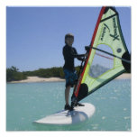 Windsurfing Lesson Poster Print
