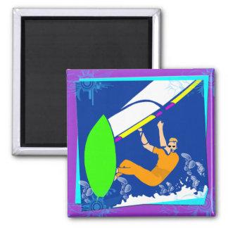Windsurfing Refrigerator Magnet