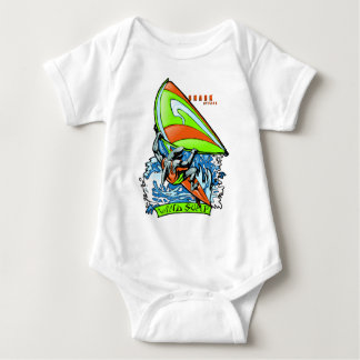 Windsurfing Shark Attack Baby Bodysuit