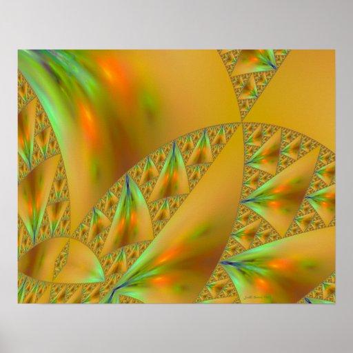 Windsurfing Sierpinski Triangle Fractal Art Print