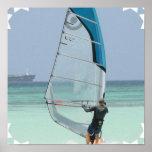 Windsurfing Star Poster