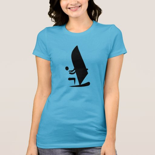 Windsurfing symbol t shirts