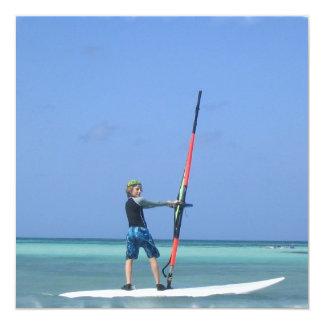 Windsurfing Teen Invitation