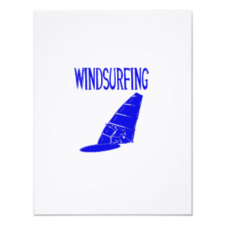 windsurfing v2 blue text sport.png 11 cm x 14 cm invitation card