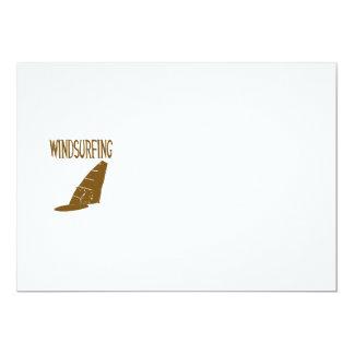 windsurfing v2 brown text sport copy.png 13 cm x 18 cm invitation card