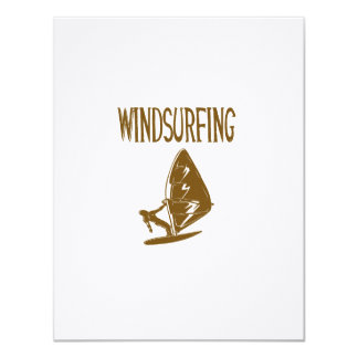 windsurfing v4 brown text sport copy.png 11 cm x 14 cm invitation card