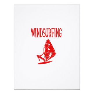 windsurfing v4 red text sport.png 11 cm x 14 cm invitation card