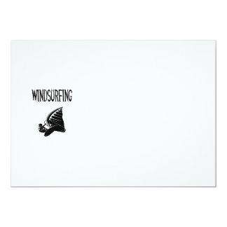 windsurfing v5 black text sport windsurf windsurfe 13 cm x 18 cm invitation card