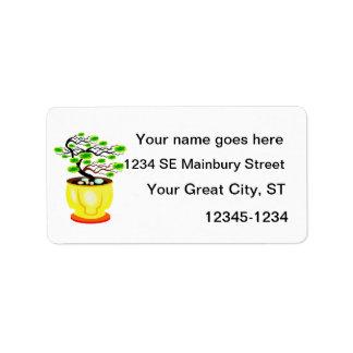 Windswept Bonsai Huge Pot Color Address Label