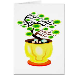 Windswept Bonsai Huge Pot Color Greeting Cards