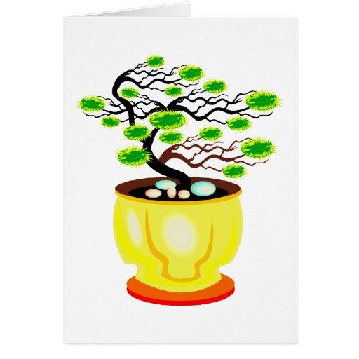 Windswept Bonsai Huge Pot Color Greeting Cards