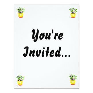 "Windswept Bonsai Huge Pot Color 4.25"" X 5.5"" Invitation Card"