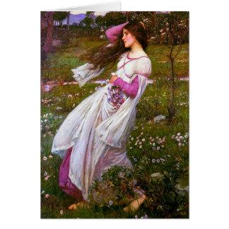 Windswept by John William Waterhouse Card