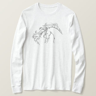 Windswept Girl & Horse Women's Long Sleeve T-Shirt