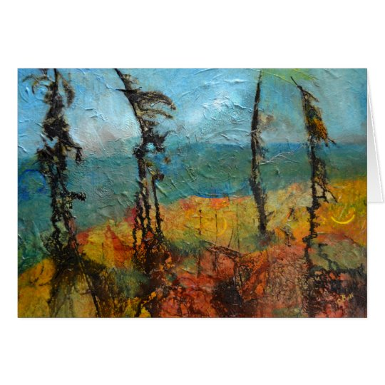 Windswept Pines Card