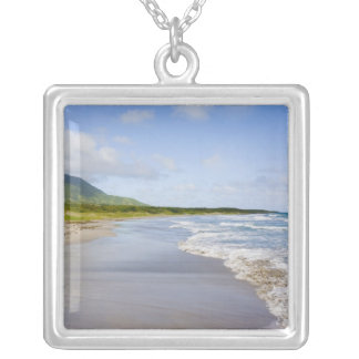 Windward Beach, Nevis Silver Plated Necklace
