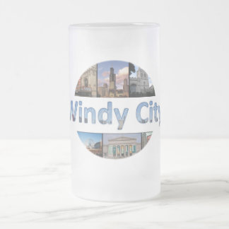 Windy City Frosted Glass Mug