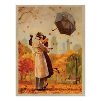 Windy City Kiss Postcard