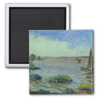 Windy Day on the Elbe, 1911 Square Magnet