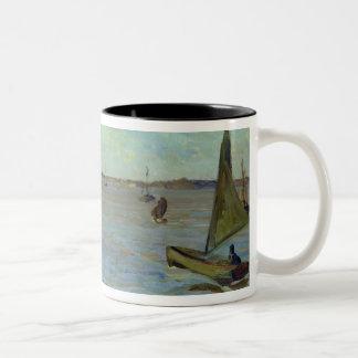 Windy Day on the Elbe, 1911 Two-Tone Coffee Mug