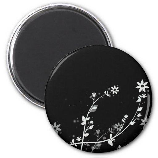 Windy Flowers digital floral designs Fridge Magnets