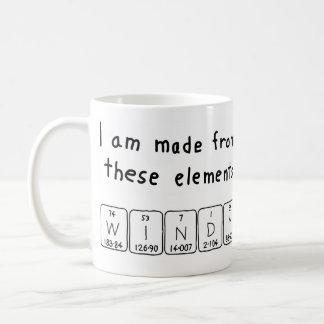 Windy periodic table name mug