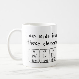 Windy periodic table name mug