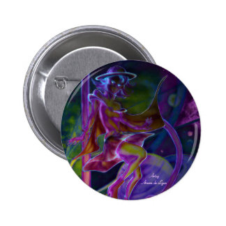 Windy Saturn Psychedelic 6 Cm Round Badge