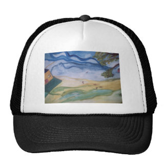 Windy Spring Day Mesh Hats