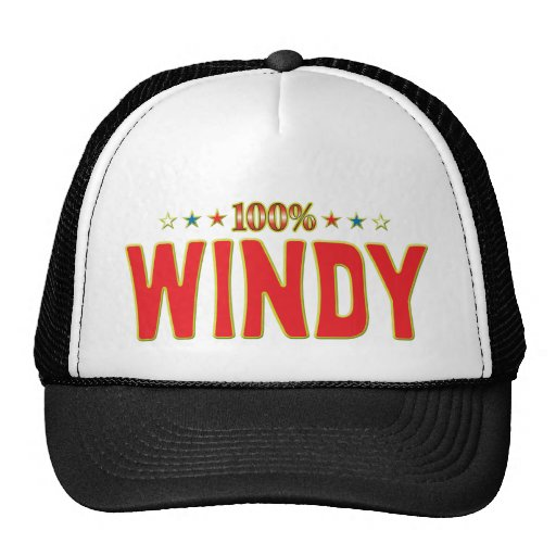 Windy Star Tag Mesh Hat