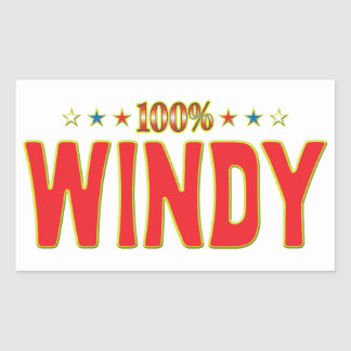Windy Star Tag Rectangle Stickers