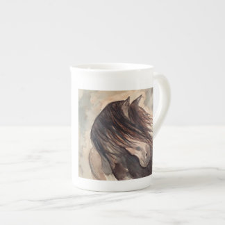 Windy Watercolor Horse Mug Bone China Mug