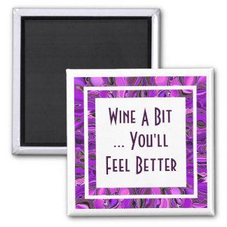wine a bit square magnet