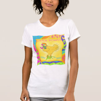 Wine a Little Chick Power Ladies Tee Shirt
