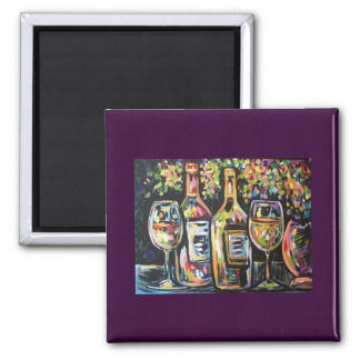 WINE AFTERNOON SQUARE MAGNET