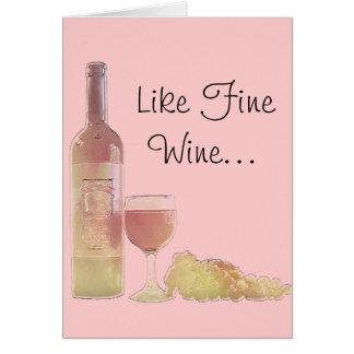 Wine Age Birthday Greeting Card