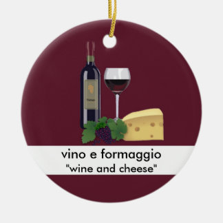 Wine and Cheese Ornament
