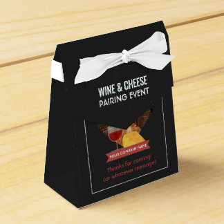 Wine And Cheese Pairing Event add photo and logo Favour Boxes