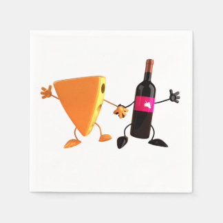 Wine And Cheese Paper Napkins Disposable Napkin