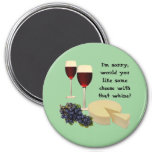 Wine and Cheese Series Refrigerator Magnet