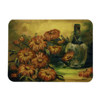 Wine and Flowers Magnet