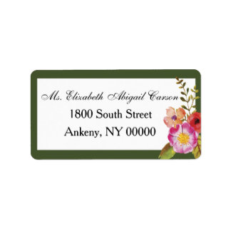 Wine and Flowers Wedding Address Label for RSVP