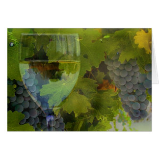 Wine and Grape thank you Card