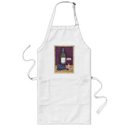 Wine and Grapes Art Gifts Apron