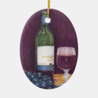 Wine and Grapes Art Gifts Christmas Ornament