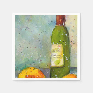 Wine and Lemons cocktail napkins Disposable Napkin