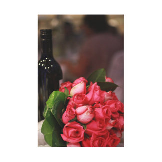 Wine and Roses Gallery Wrapped Canvas