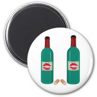 WINE AND SMOOCHES PRINT MAGNETS