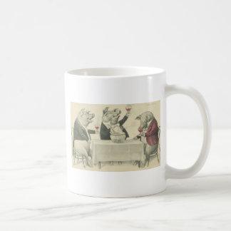 wine ang pigs and bowl basic white mug