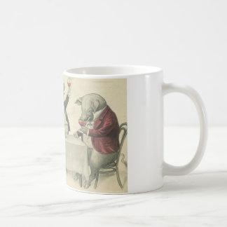 wine ang pigs and bowl mug